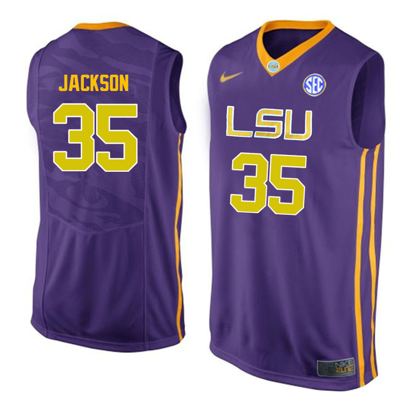 Men LSU Tigers #35 Chris Jackson College Basketball Jerseys-Purple